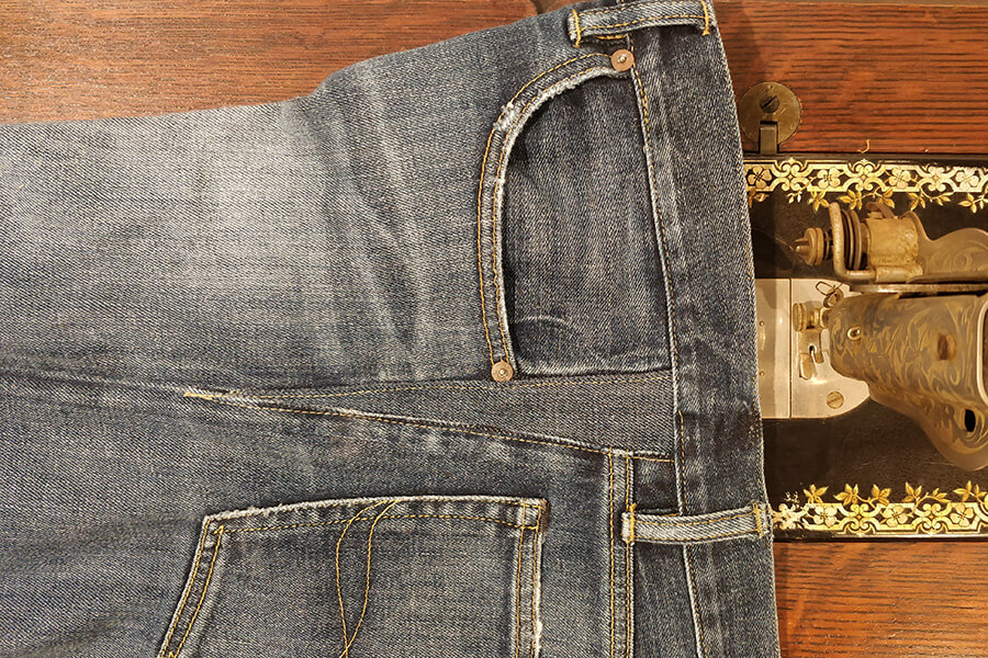 jeans with an expanded waist