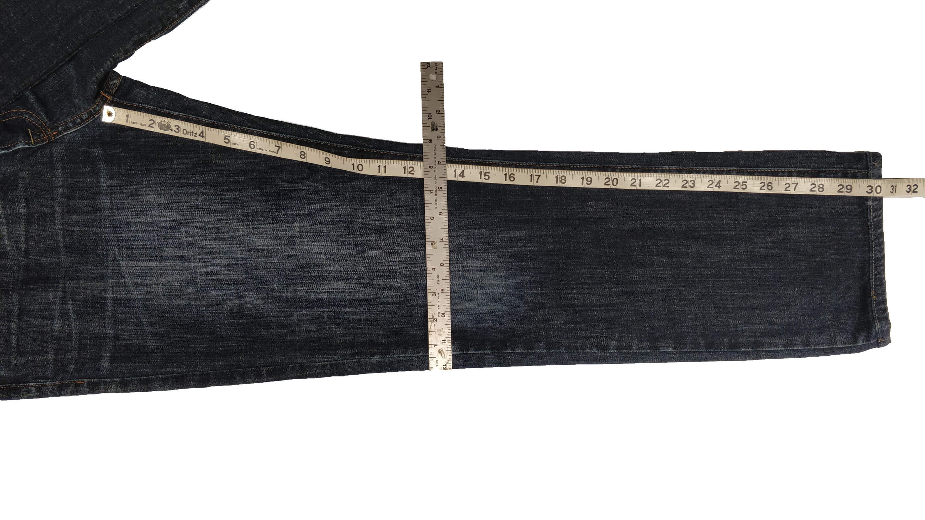 how to measure jeans knee