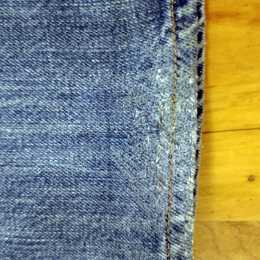 fixed worn hem